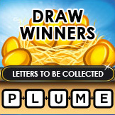 Winners with the letters to be collected