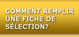 Comment complter une fiche de slection?