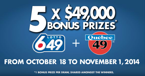 Qu�bec 49 and Lotto 6/49 bonus prizes
